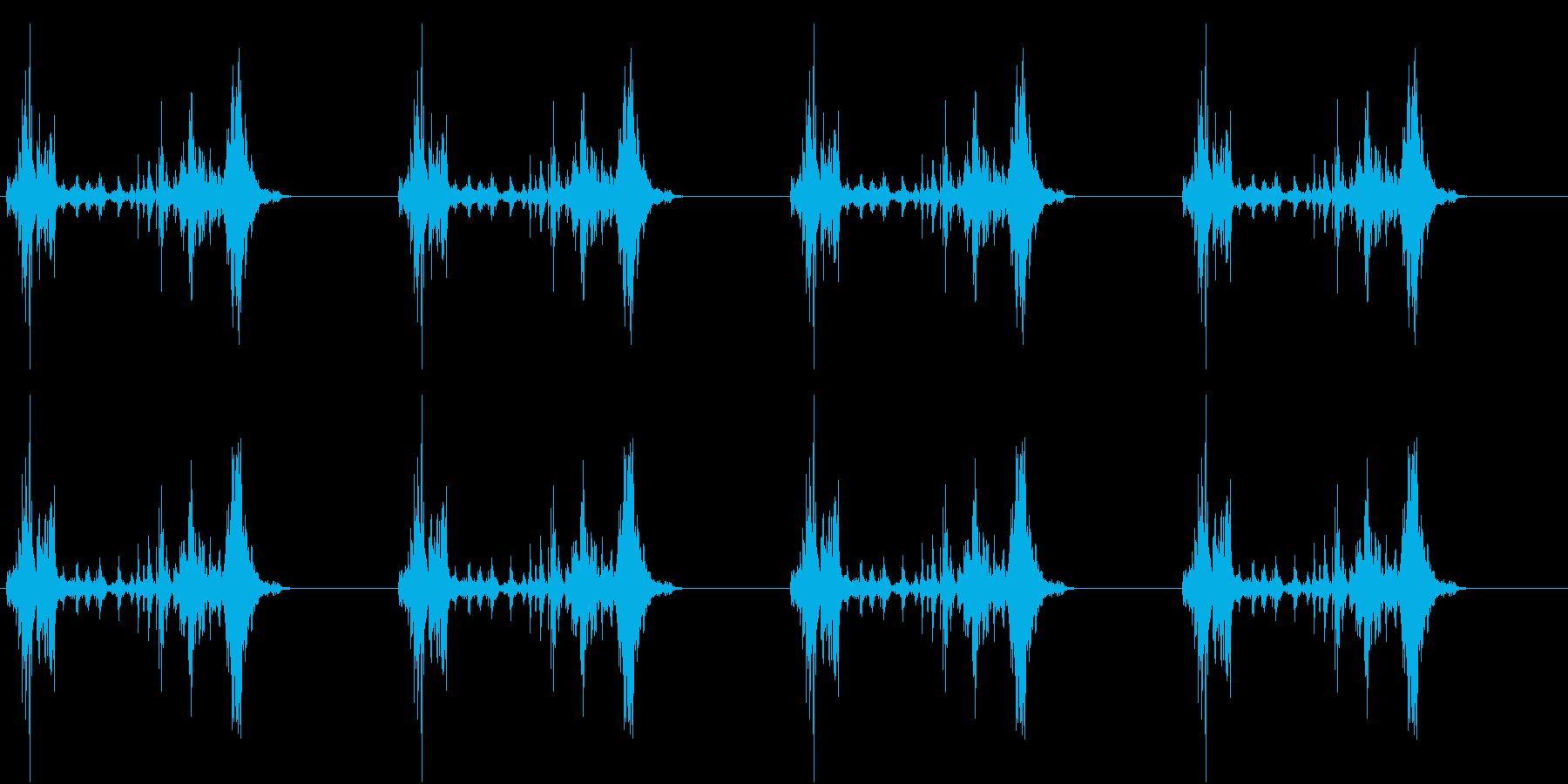 【生録音】ロボットのおもちゃ 歩く音 2の再生済みの波形