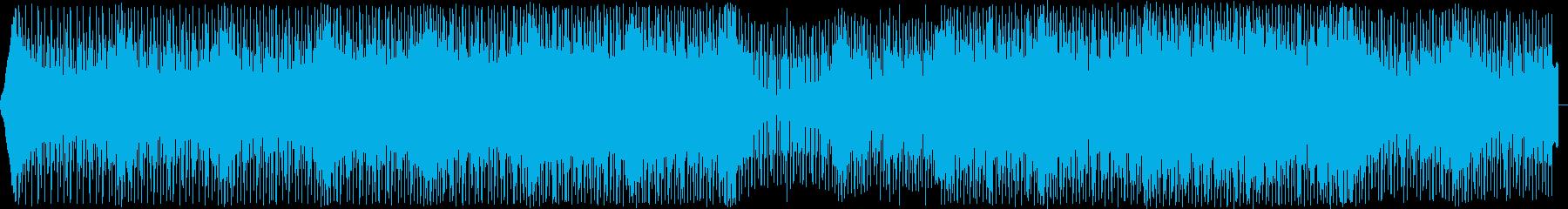 無機質でハイテンポなハウスミュージックの再生済みの波形