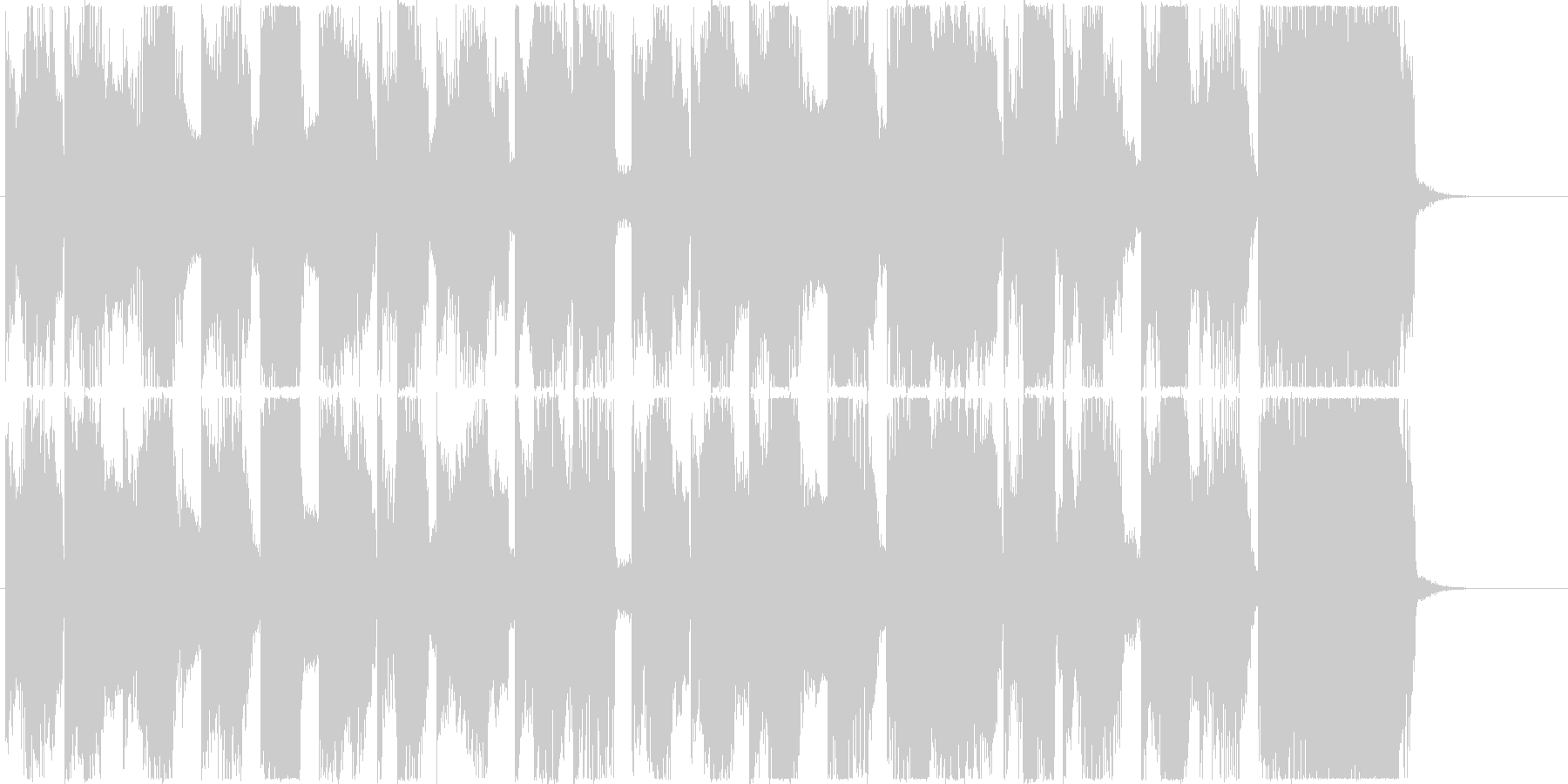猫みたいな音色のフューチャー系ジングルの未再生の波形