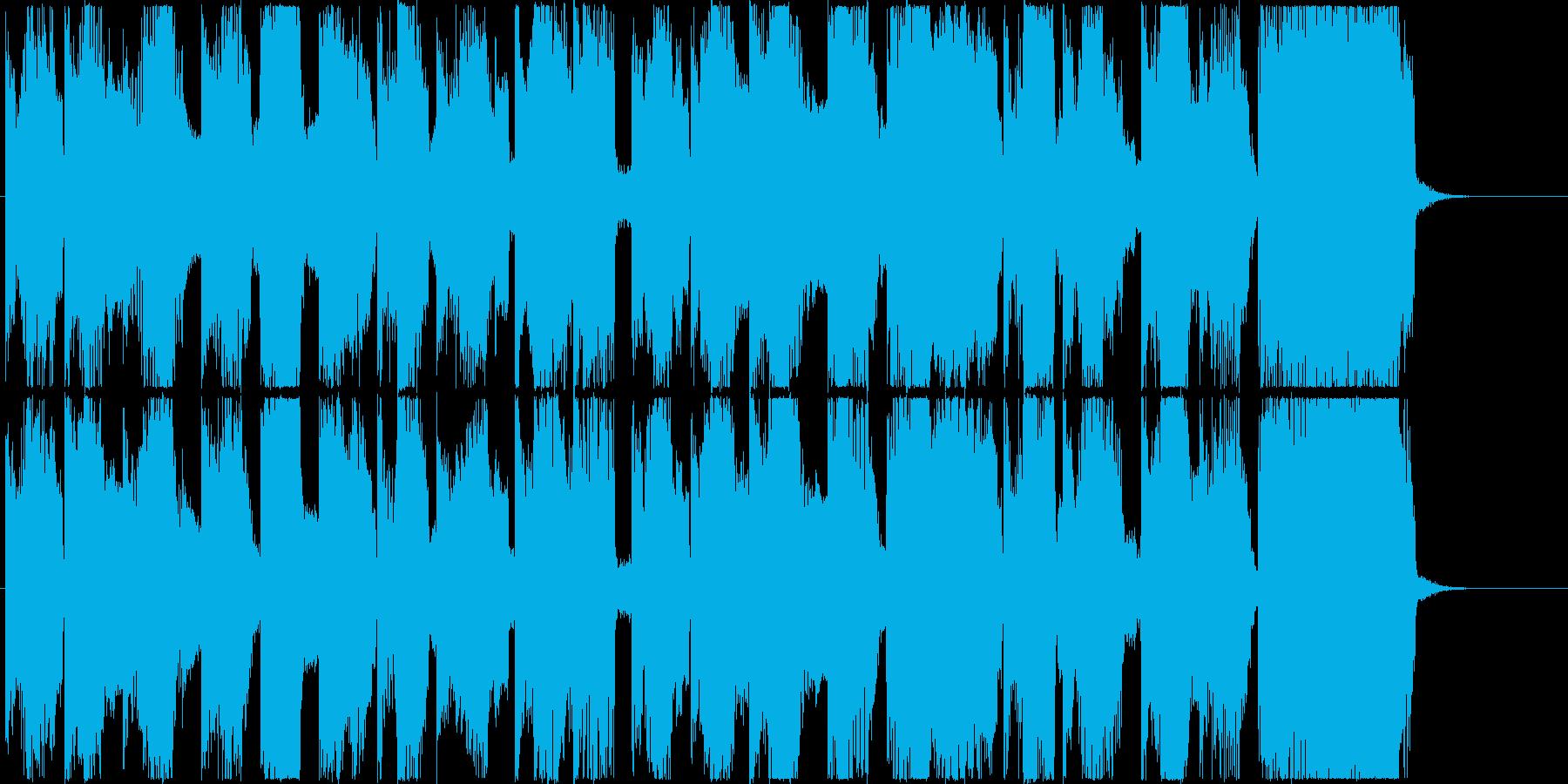 猫みたいな音色のフューチャー系ジングルの再生済みの波形