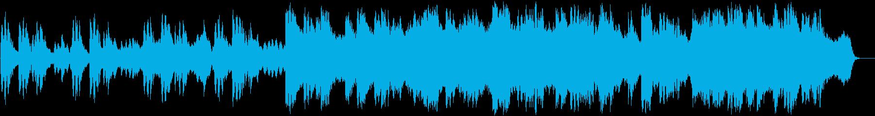 水中のイメージのシンセサイザー音楽の再生済みの波形