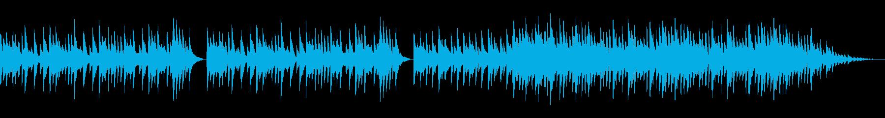 動画BGM用のピアノ曲(切ない、哀愁)の再生済みの波形