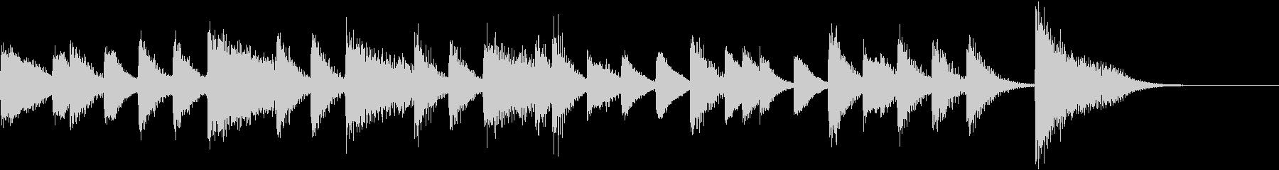 証城寺の狸囃子モチーフのピアノジングルCの未再生の波形