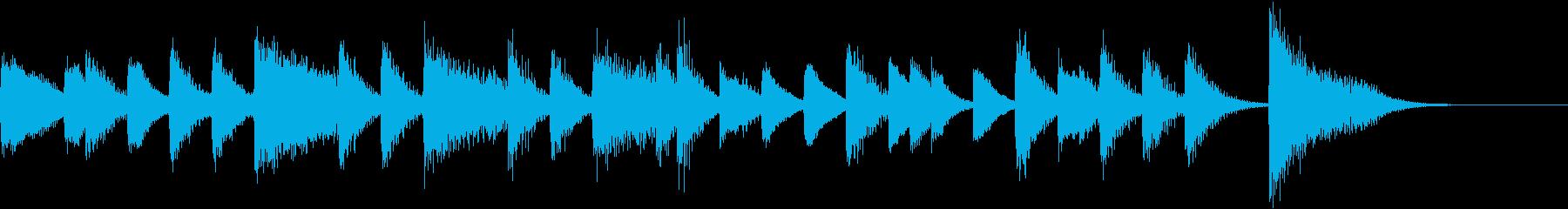 証城寺の狸囃子モチーフのピアノジングルCの再生済みの波形