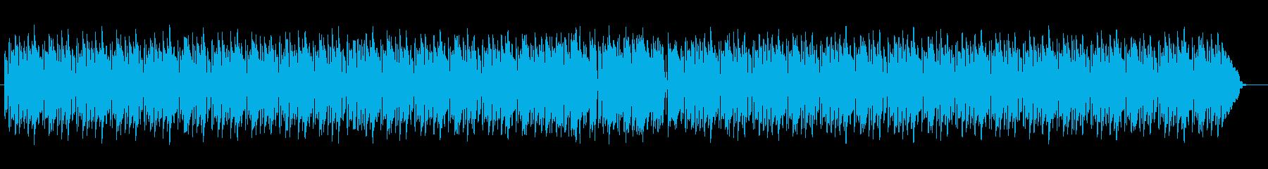 穏やかで軽快なポップBGMサウンドの再生済みの波形