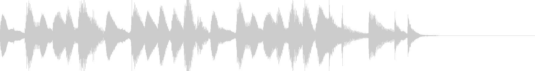 マリンバのジングル11の未再生の波形