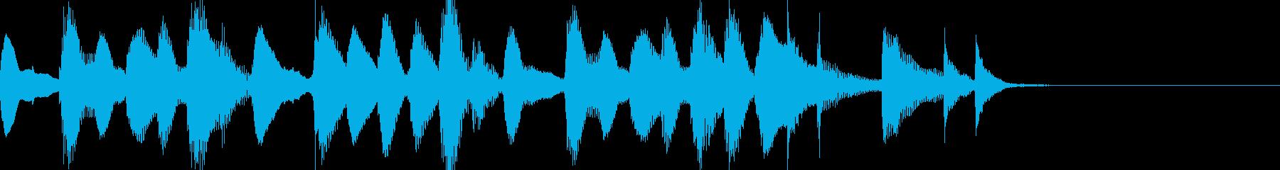 マリンバのジングル11の再生済みの波形