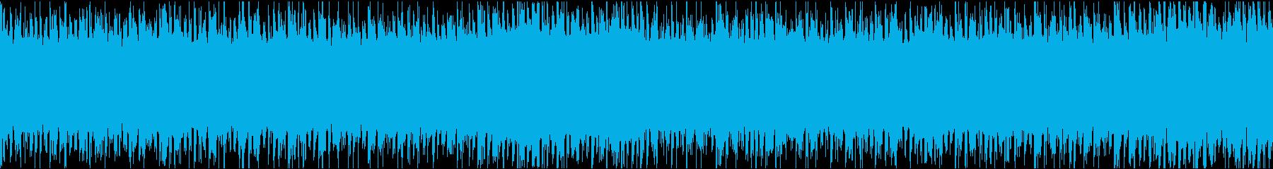ハラハラ緊迫感のあるループの再生済みの波形