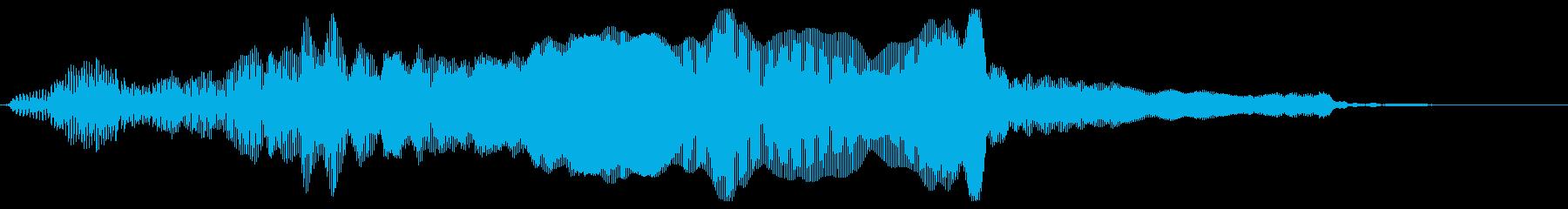 猫ニャーの再生済みの波形
