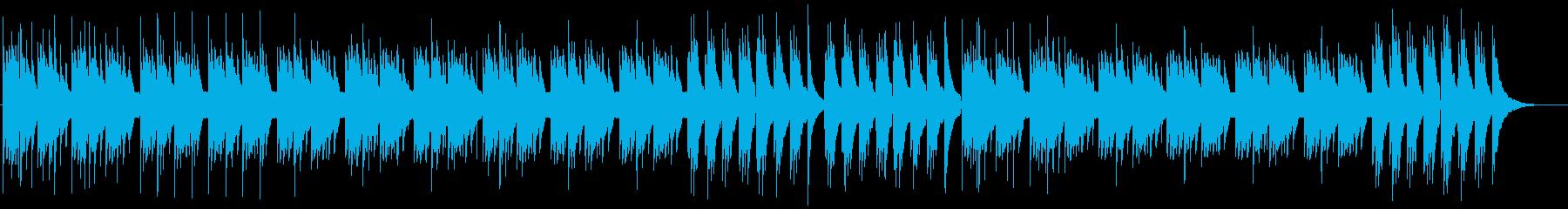 森の癒しアコースティックギターの再生済みの波形