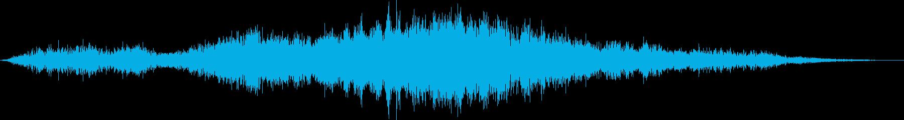 【環境音】飛行機の離陸07の再生済みの波形