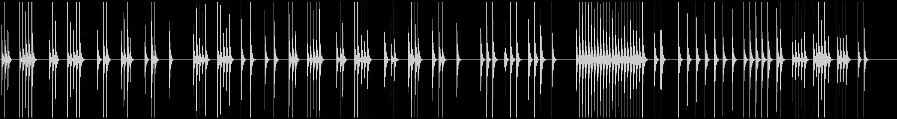 映像向ほのぼの木琴の一人で黙々働く像の未再生の波形