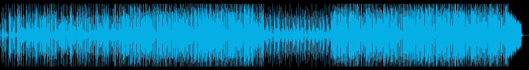 オシャレなカフェで流れているようなBGMの再生済みの波形