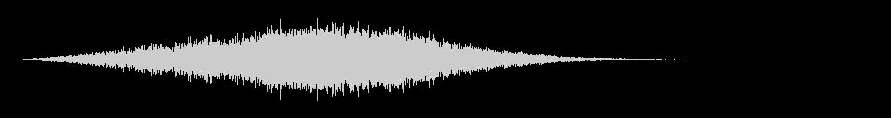 サスペンスフルミュージカルロゴの未再生の波形