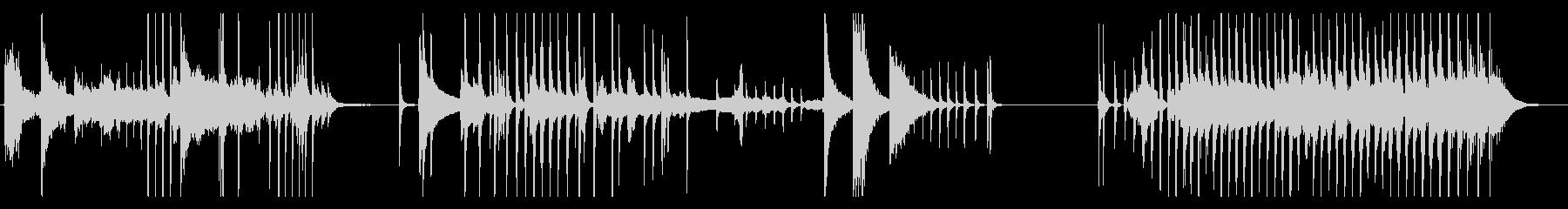 怪談話、怖い系の場面に使えるBGMの未再生の波形