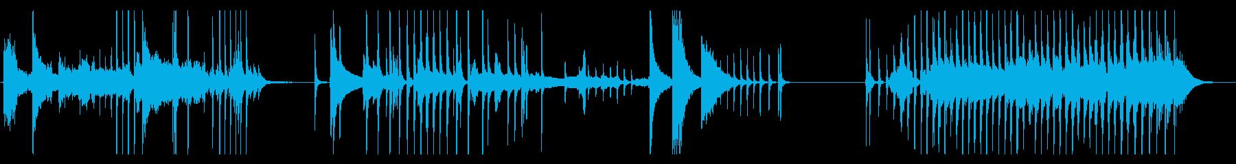 怪談話、怖い系の場面に使えるBGMの再生済みの波形