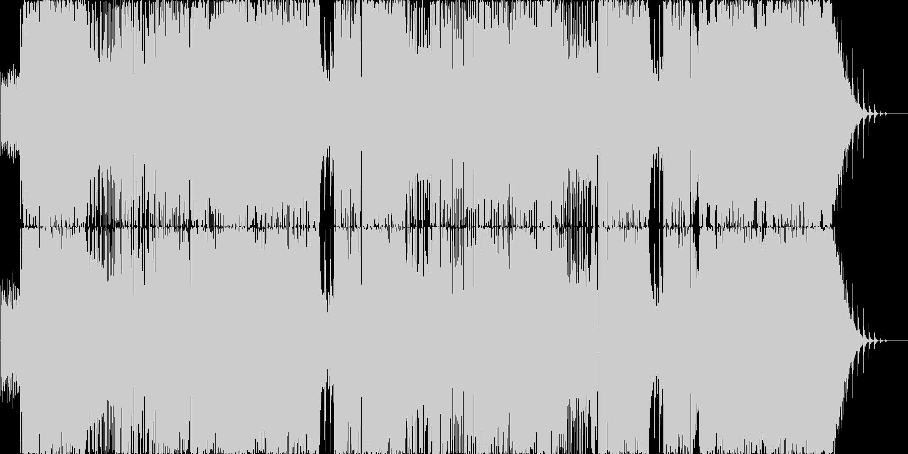 疾走感溢れるウィンターポップロックの未再生の波形