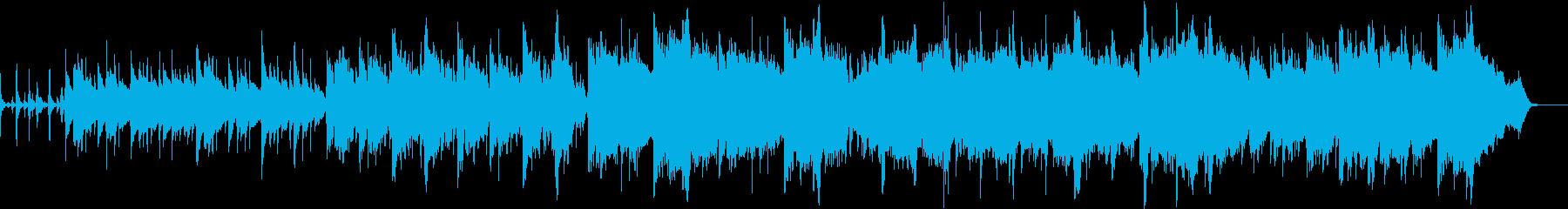 リラックス感あるアコギとアコーディオンの再生済みの波形