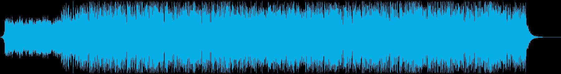 壮大な曲想のエレクトロミュージックの再生済みの波形