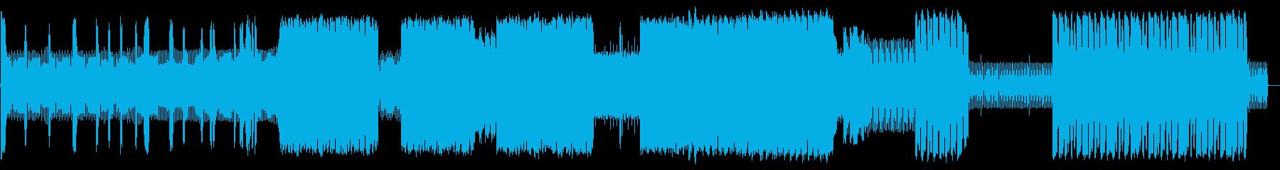 ノイジーでインダストリアなルテクノの再生済みの波形