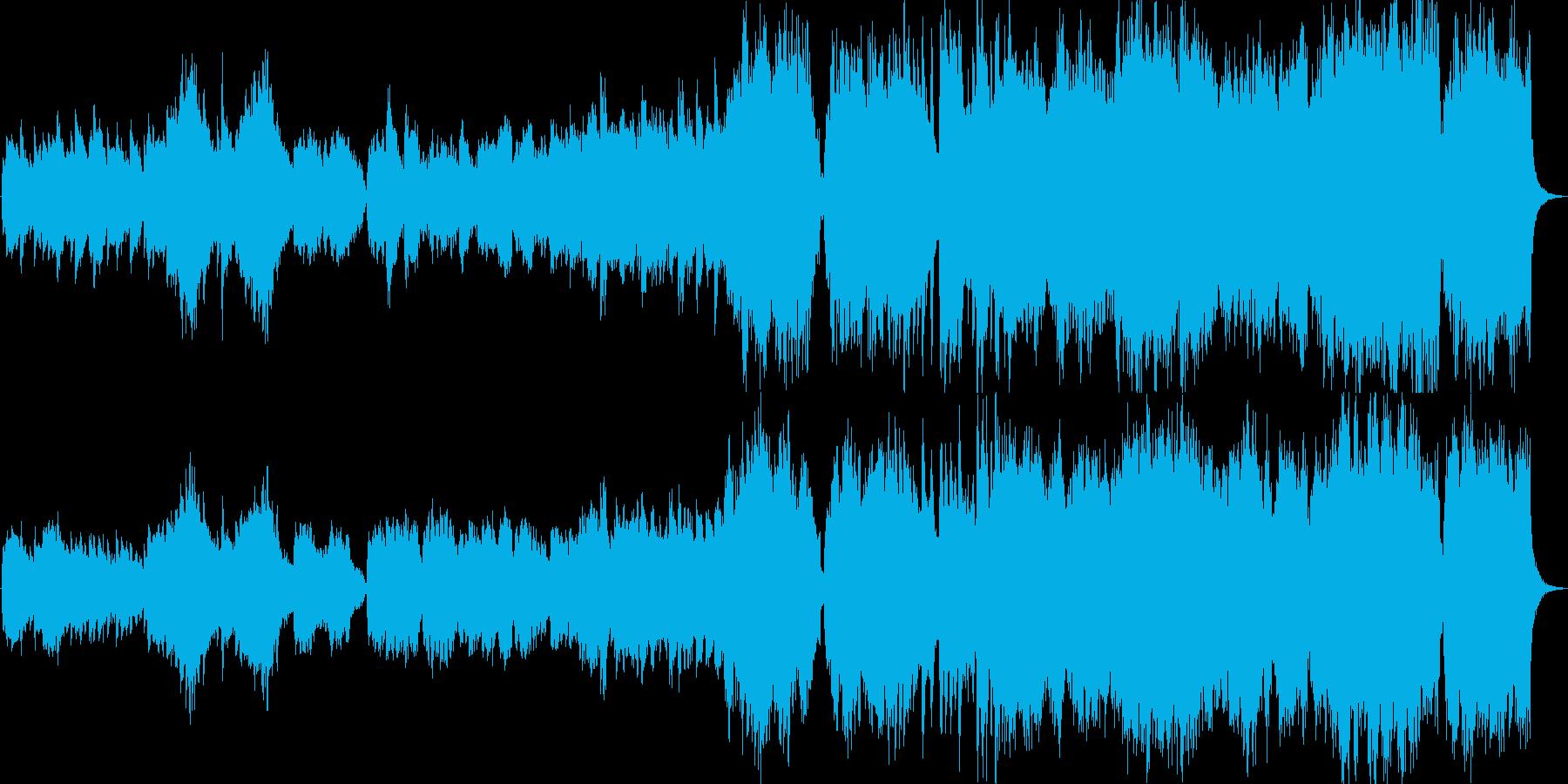 暖かなオーケストラ曲の再生済みの波形