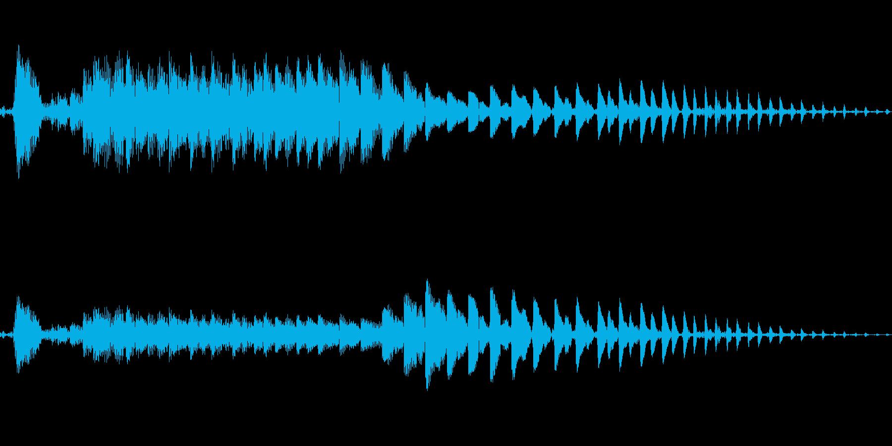 ポイ〜ン♪コミカルで可愛いジャンプ音04の再生済みの波形