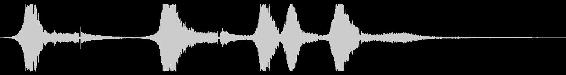 軽量在庫:さまざまな間隔で近接した...の未再生の波形