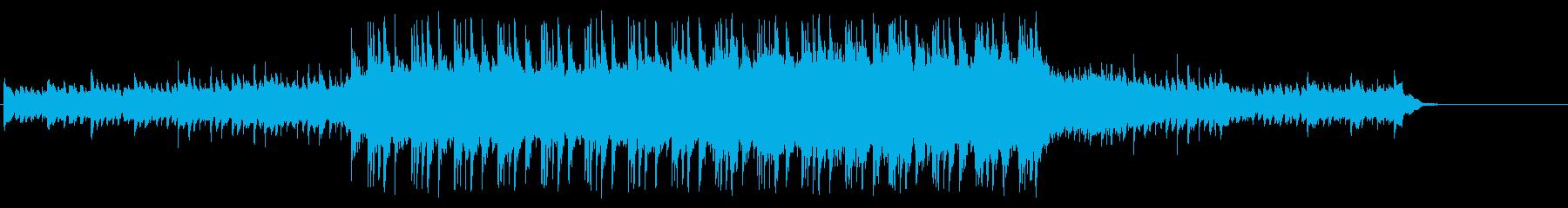 せせらぎをスローな映像で見せる科学の環境の再生済みの波形