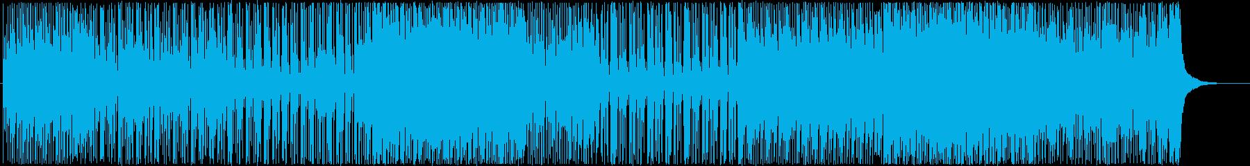 元気で前向きなポップ-インストロックの再生済みの波形