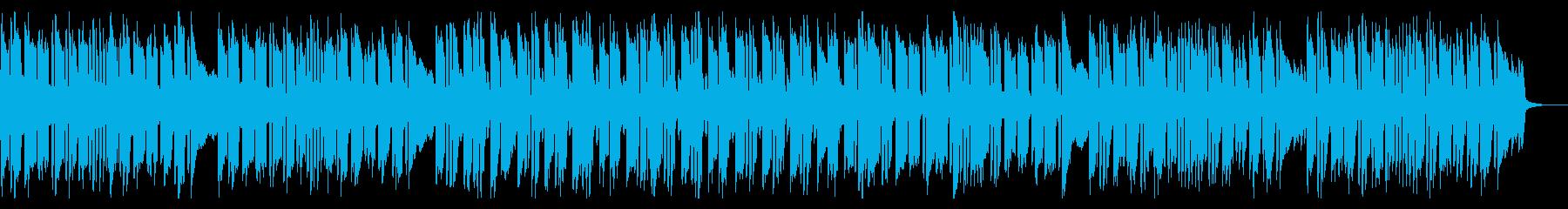 キラキラしたクールな曲の再生済みの波形