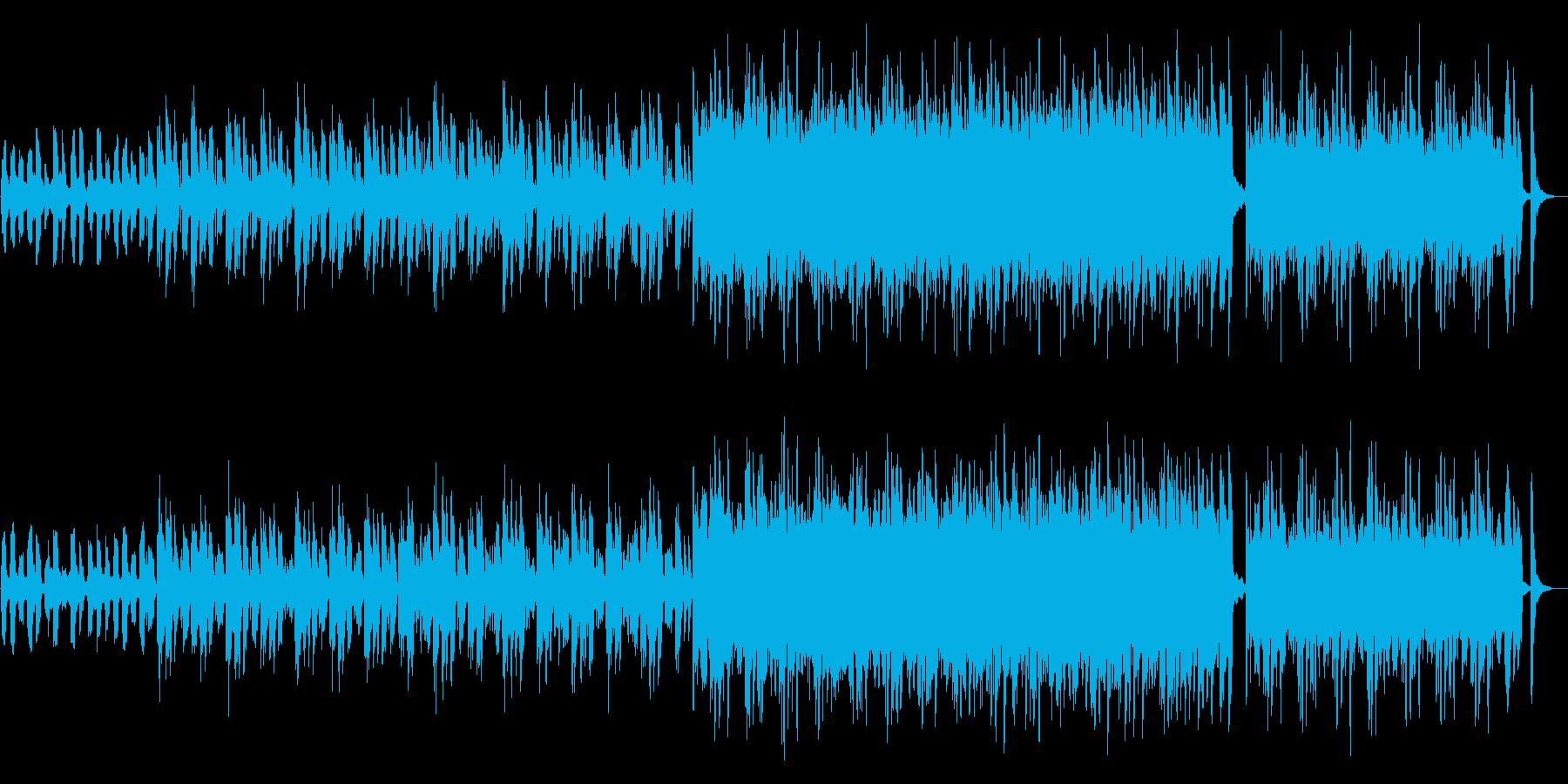 爽やかで温かいCM曲の再生済みの波形