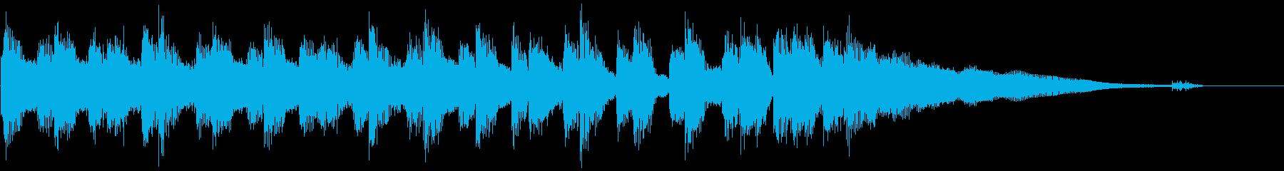 生演奏ギター ブルースジングルの再生済みの波形