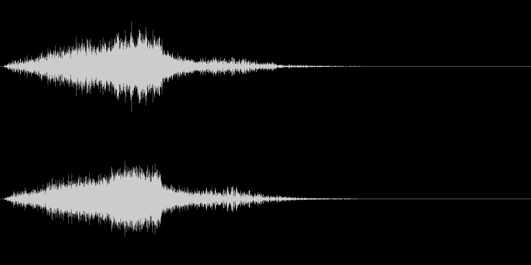 ホラー的な効果音の未再生の波形