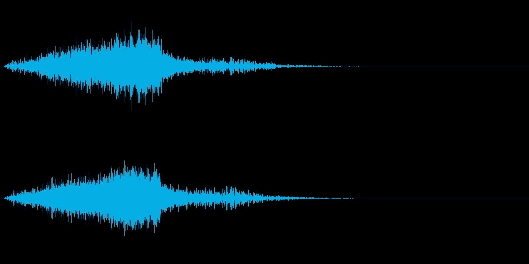 ホラー的な効果音の再生済みの波形