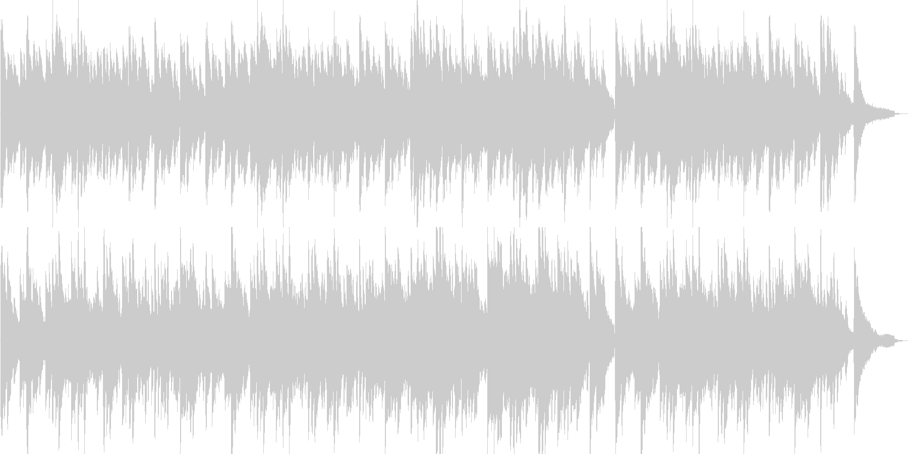 温かい・感動的・ピアノ・映像・イベント用の未再生の波形