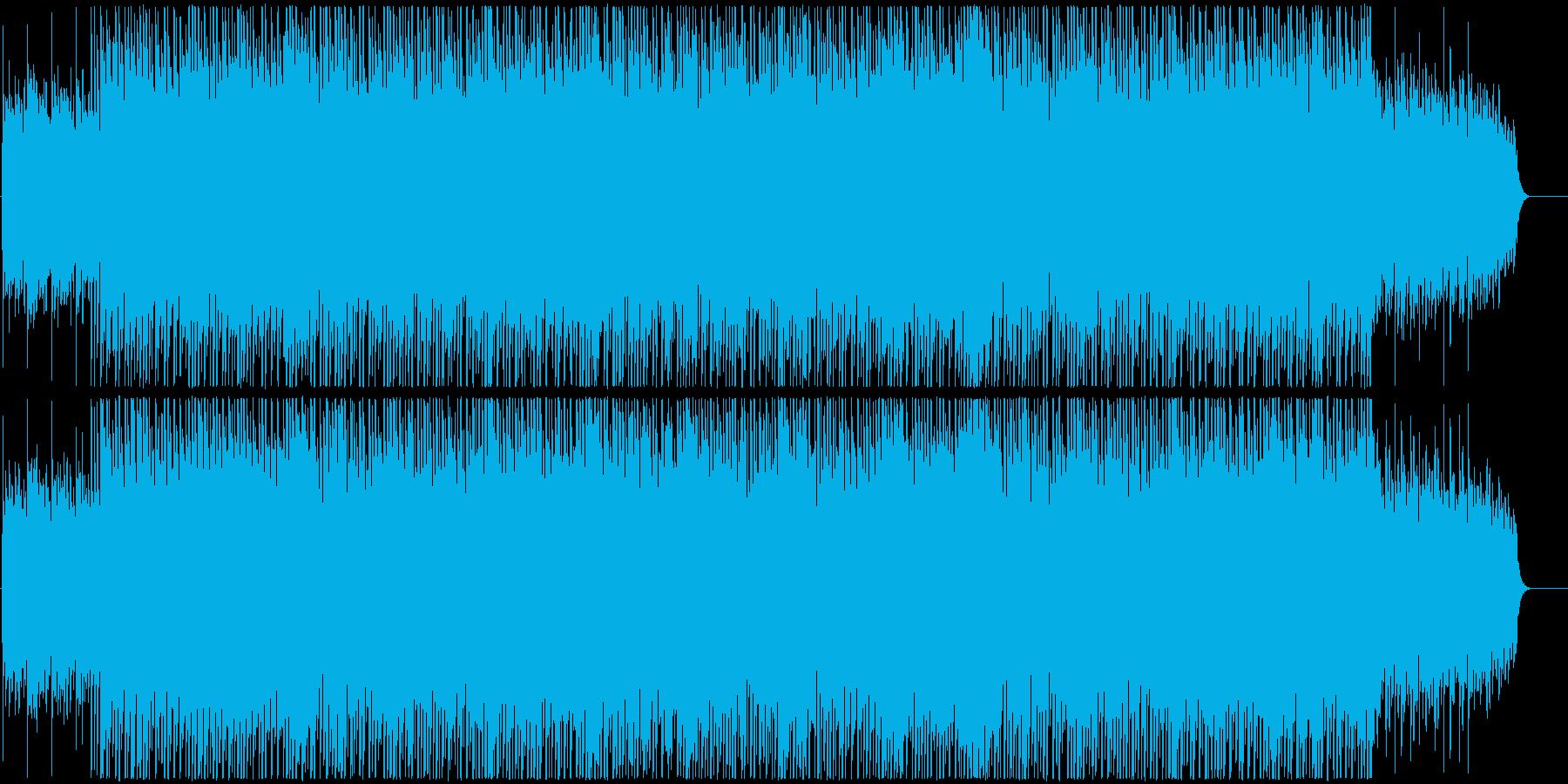 キラキラと透明感を感じるBGMの再生済みの波形