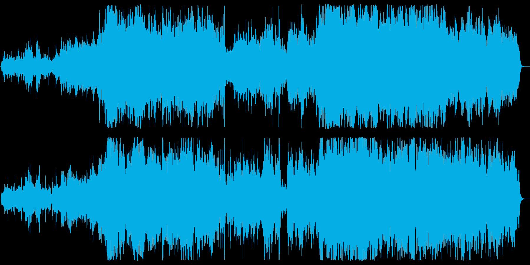 サスペンス感のある弦楽四重奏の再生済みの波形