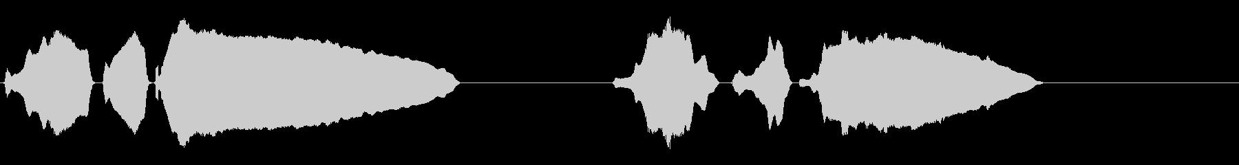 ミュートトランペット-タップ。の未再生の波形