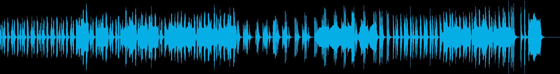まったりした日常のシンプルな劇伴の再生済みの波形