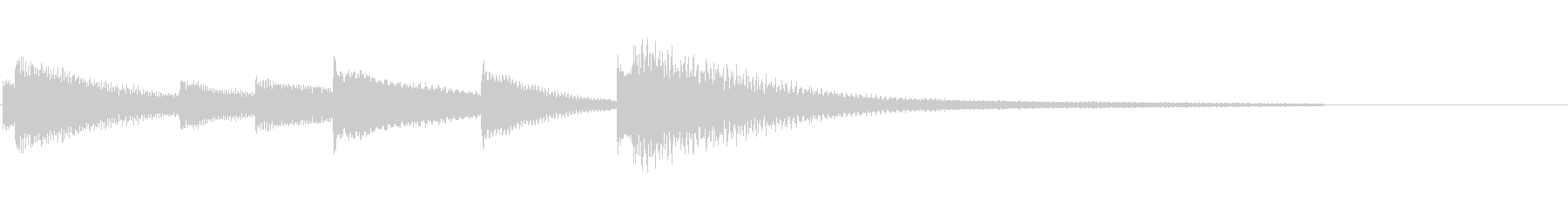 シンプルなピアノ ジングルの未再生の波形