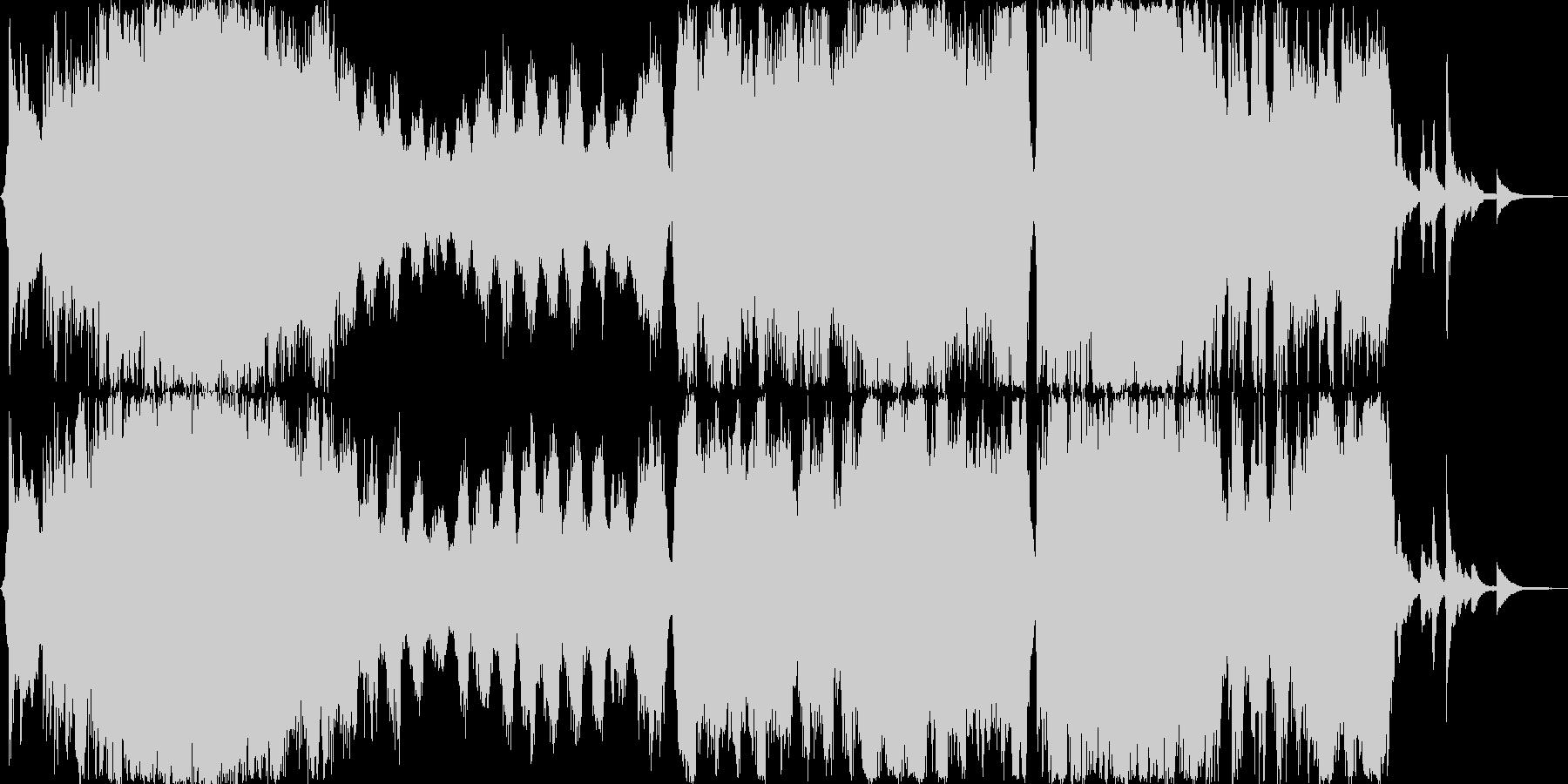 ストリングス 壮大 オープニング曲の未再生の波形