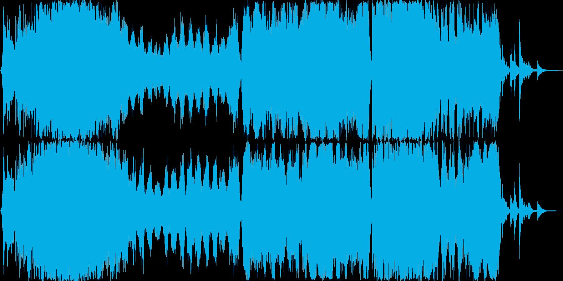 ストリングス 壮大 オープニング曲の再生済みの波形