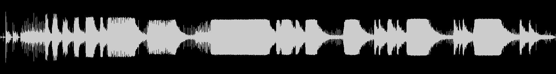 チェーンソー-起動、回転、オフの未再生の波形