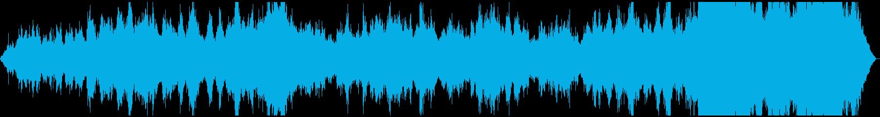 フルートとエコーおよびクリスタルク...の再生済みの波形