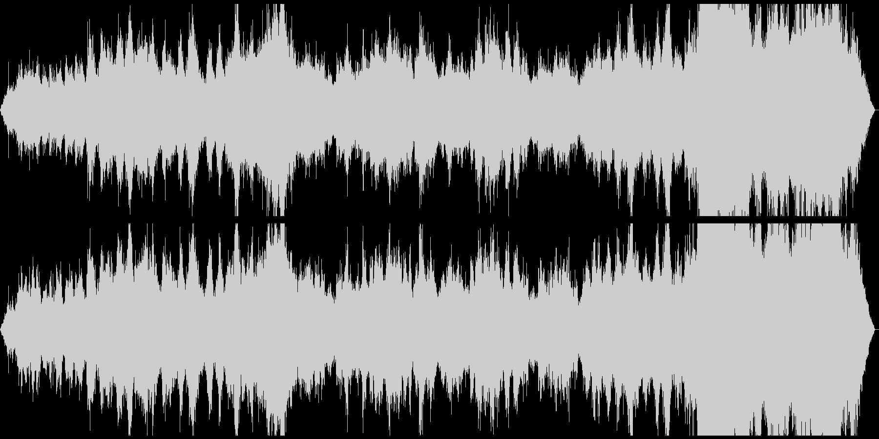 フルートとエコーおよびクリスタルク...の未再生の波形