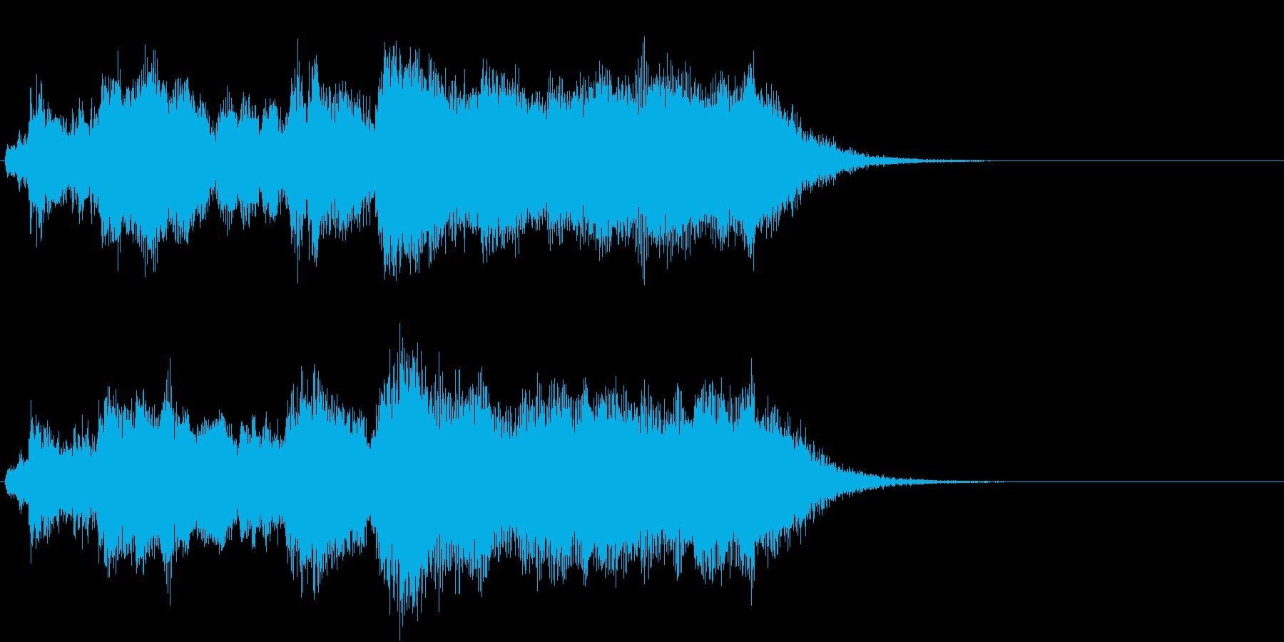 オーソドックスな金管ファンファーレの再生済みの波形