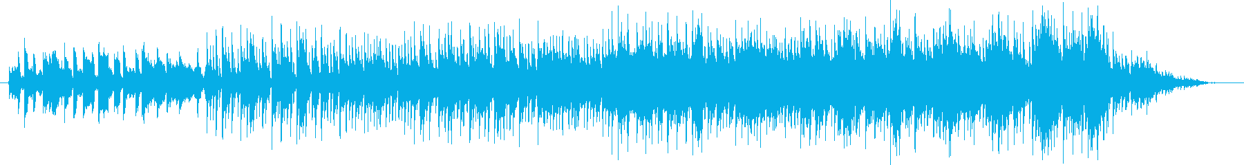 クールなピアノリフのジャズロックの再生済みの波形