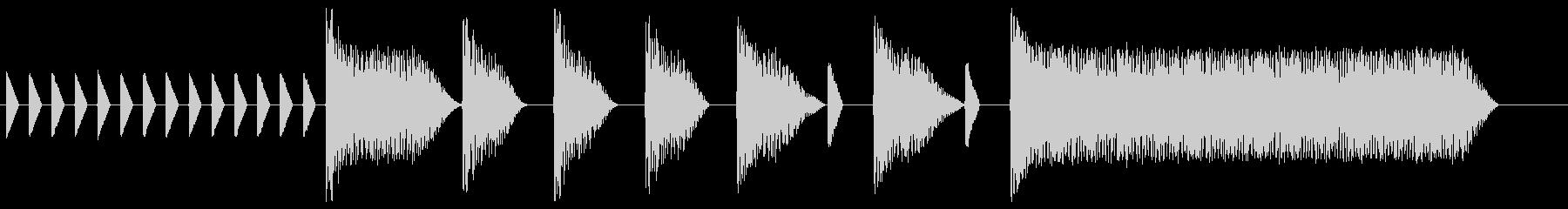 8bitジングル#10スタート&クリアの未再生の波形