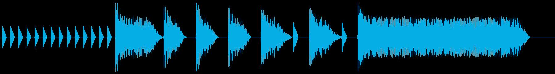 8bitジングル#10スタート&クリアの再生済みの波形