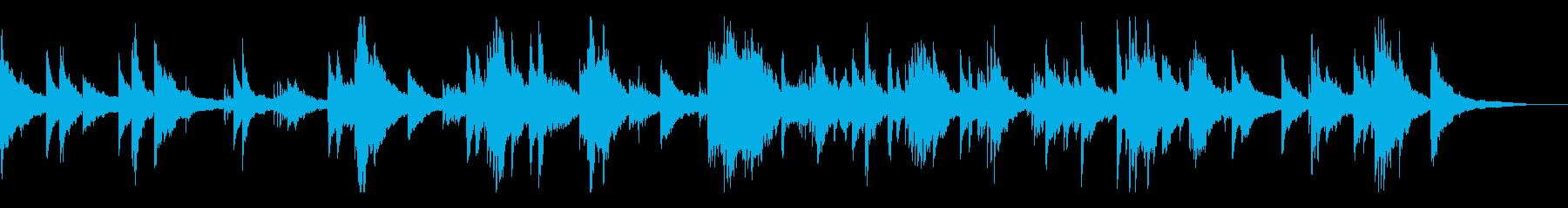 不気味と静寂/和風の雰囲気10 ピアノ+の再生済みの波形